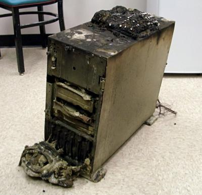 Brændt computer